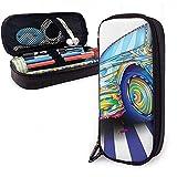 a colorful cool sports car cute penna astuccio in pelle grande capacità doppia cerniera astuccio per matita borsa portapenne scatola 20 cm * 9 cm * 4 cm