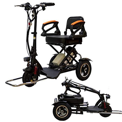L.HPT Mini Triciclo eléctrico Plegable Scooter eléctrico Adulto Litio portátil para discapacitados...