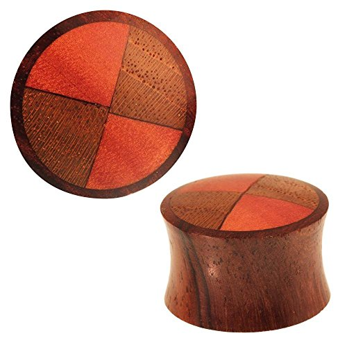 Chic netto Plug Saba legno di teak superficie del legno e legno Sono Expander Tribal 10 mm