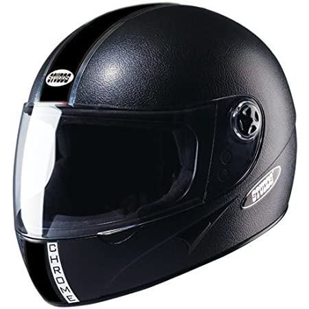 Studds Chrome Eco Full Face Helmet- Black (Xl)