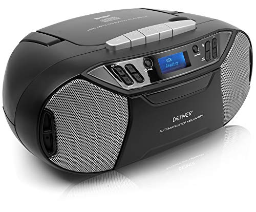 Denver TDC-250 Portable Digital DAB/DAB+/FM Radio With CD & Cassette...
