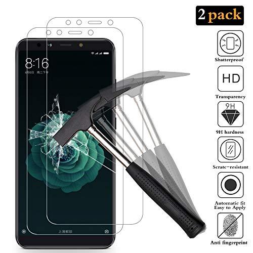 ANEWSIR [2 Pack Protector de Pantalla para Xiaomi Mi A2, Cristal Templado Xiaomi Mi A2 Protector Pantalla de Vidrio Templado para Xiaomi Mi A2 [9H Dureza]