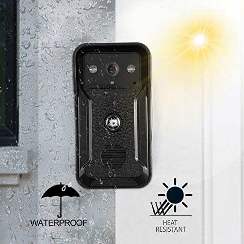 chengong Videoportero, 2 Monitores 1080P Cámara Timbre, Hoteles para Edificios Públicos Apartamentos a Todo Color(European regulations)