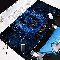 Zenghh ダークエイリアンマウスパッドは布の表面マウスパッドについては、成人キッドグライド・最適化された織物表面、滑り止めの光とレーザーマウスのためにデザインベース、31.5「x11.8」、黒を拡張しました (Color : 7)