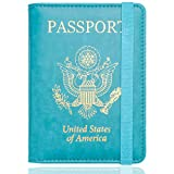 WALNEW RFID Passport Holder Cover Traveling Passport Case, G-Blue