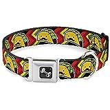 Buckle-Down Dog Collar Seatbelt Buckle Taco Man 15 to 26 Inches 1.0 Inch Wide, Multicolor (DC-SB-DB-W32071-1.0-L)