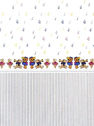 Melody Jane Casa de Muñecas Musical Ositos de Peluche Miniatura 1:12 Infantil Papel Pintado 3 Sheets