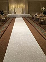TRLYC 24Inch by 15FT Iridescent Sequin Wedding Aisle Runner Marriage Ceremony Bridal Carpet Wedding Aisle Runner Indoor Wedding Aisle Runner