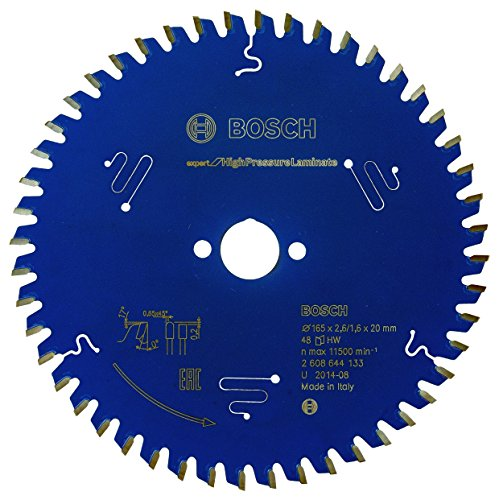 Bosch Professional Kreissägeblatt Expert for High Pressure Laminate (165 x 20 x 2,6 mm, 48 Zähne, Zubehör Kreissäge)