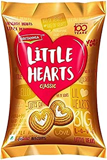 Britannia Little Hearts Biscuits Classic (34.5 gx5) Pack, Immunity Booster Refreshing Drink (200ml x 2) with Tasty Digesti...