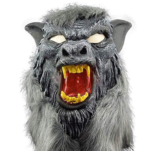 Halloween Masker Terror Devil Kostuum Props Vol Spikes Terrorist Wolf hoofd kunstgebitten