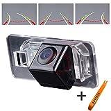 Greatek Colore telecamera di retrovisione con linee di griglia come luce targa, Retrocamera di parcheggio per X1 X3 X5 X6 M3 M1 E39 E46 E91 E53 E88