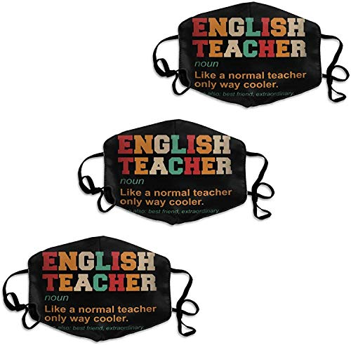 English Teacher Definition Cooler Best Friend Mouth-Face Mask Face Decorations for Outdoors Home and Daily Use, Windproof Face Bandana Nose/Mouth Coverings Mouth Scarf