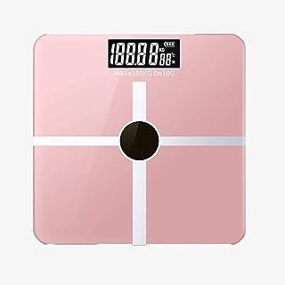 Báscula de baño digital Luz de energía recargable Escala electrónica, inteligente Medición de grasa corporal báscula peso corporal (Color : C)