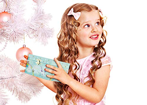 RR ROUND RICH DESIGN Kids Musical Jewelry Box for Girls and Jewelry Set with Magical Unicorn - Blue Danube Tune Pink 4