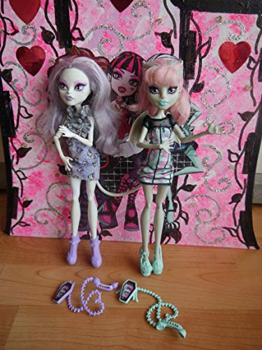 Monster High Duo / 2 - Pack - Poupée - Ghoul Chat Doll - Rochelle Goyle & Catrine DeMew - CBX57 - Mattel