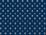 Möbelstoff Royal Soft Farbe 83 (blau, Druck, bedruckt) -