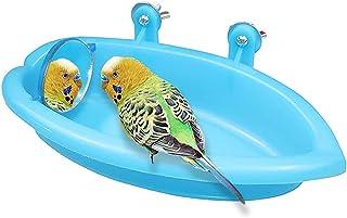 Accessoires de cage à oiseaux avec miroir à oiseaux,accessoires de baignoire à oiseaux,accessoires de cage à perroquet,acc...