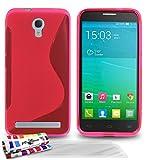 MUZZANO Le S - Funda para Alcatel Idol 2 Mini S, Incluye 3 Protecciones de Pantalla, Color Rosa