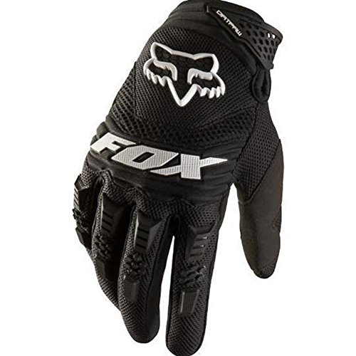 Crazystone's FOX Motorcycle, Motocross, Bikes Full Finger Gloves (L Width-10cm(3.94 ins), Black)