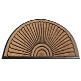 A1 HOME COLLECTIONS Handcrafted Sunburst Sturdy Well Made Double Doormat, Rubber and Coir, X-Large, 72' X 36'