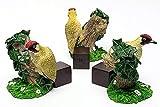 Potty Feet Green <span class='highlight'><span class='highlight'>Woodpecker</span></span> Figures Plant Pot Feet - Planter Support - Handmade Decorative Ornaments - 3pcs