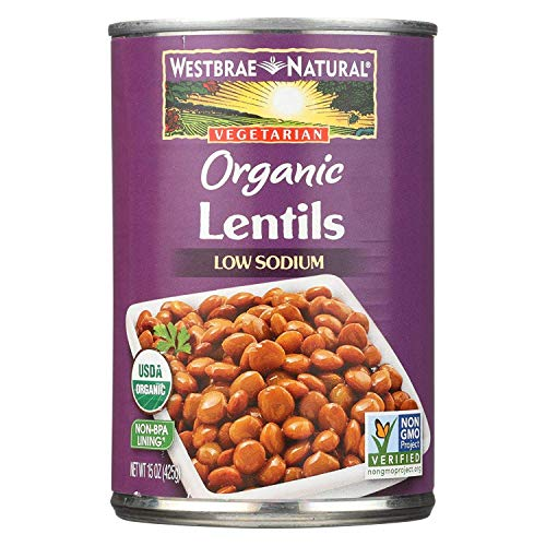 Westbrae Foods Organic Lentils Beans - Case of 12-15 oz.