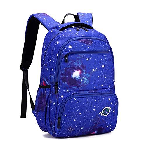MODRYER Mochila para Niños Estrella 3D Impresa Imprimida Rucksack Elementary Students School Bag Impermeable Lightweight Bookback Regalo de Cumpleaños,Blue C-45 * 30 * 14cm