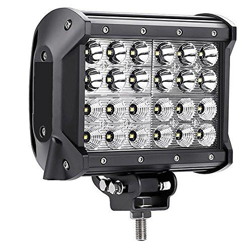 SAILUN 72W Arbeitsleuchte LED Offroad Flutlicht Vier Reihen Zusatz Scheinwerfer Auto Beleuchtung Arbeitsscheinwerfer Nebelscheinwerfer für