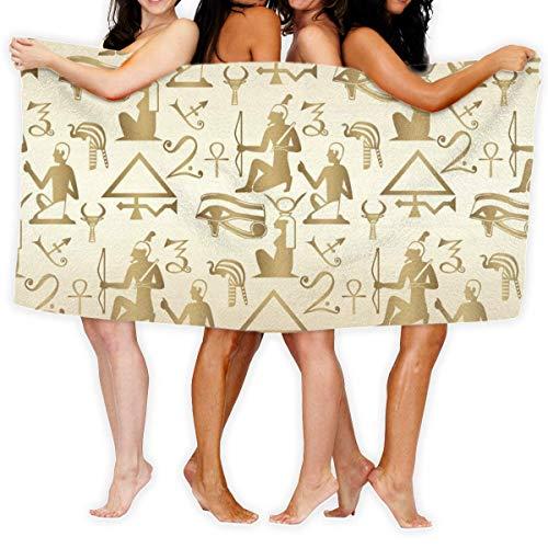 Toallas de playa, egipcio-sin costuras patrón de gran tamaño de microfibra súper absorbente personalidad toalla de baño playa manta toallas 76 x 152 cm