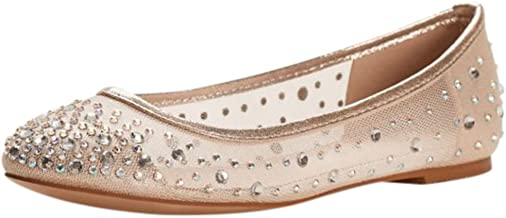 David's Bridal Ballet Flat with Scattered Crystal Accesnts Style ABABA31
