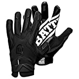 Battle Warm Winter Football Gloves  Ultra-Tack Sticky Palm Receivers Gloves with Fleece Lining  Pro-Style Receiver Gloves, Adult, Adult Medium, Black