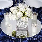Efavormart 14' Round Glass Mirror Wedding Party Table Decorations Centerpieces - 4 PCS