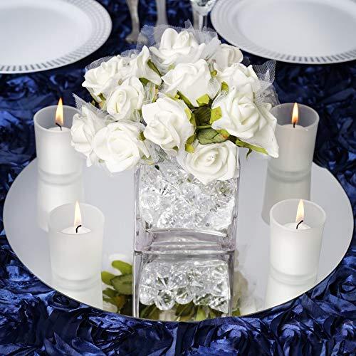 "Efavormart 14"" Round Glass Mirror Wedding Party Table Decorations Centerpieces - 4 PCS"