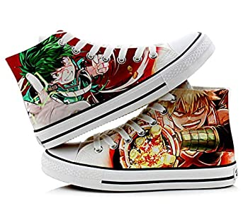 My Hero Academia Izuku Midoriya Katsuki Bakugo Shoto Todoroki Cosplay Shoes Canvas Shoes Sneakers Orange