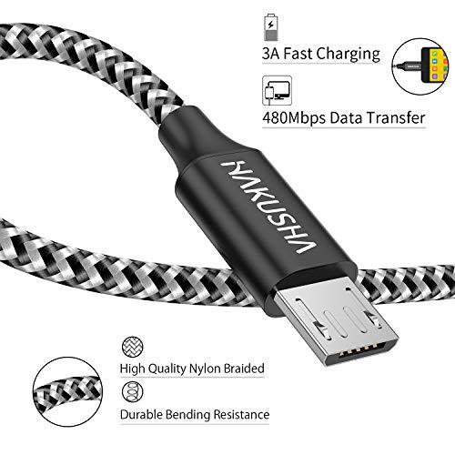 Micro USB Kabel,[0.5M] Nylon Micro USB Ladekabel Schnellladekabel High Speed Handy Datenkabel für Samsung Galaxy S7/ S6/ J7/ Note 5,Xiaomi,Huawei, Wiko,Motorola,Nokia,Kindle