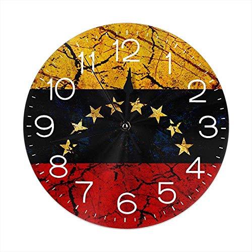 L.Fenn Reloj De Pared Venezuela Reloj De Pared Decorativo Silencioso Sin Tictac - Redondo Fácil De Leer Decorativo...