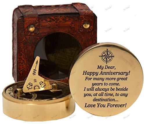 De Cube Für Damen und Herren - Sonnenuhr-Kompass mit besonderer Gravur - Romantische Geschenkideen für Sie und Ihn - Ehemann Geschenke von der Frau (vorher mit meinen Liebesprüchen graviert)