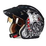 Casco de moto Perro negro Patrón ABS Adulto Casco de bicicl