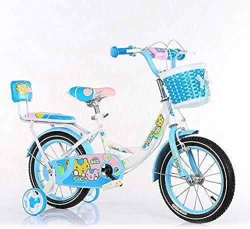 GLJJQMY Kinderfürr r 3-5 Jahre Kinderfürr r 14-Zoll-Baby-fürr r aus Kohlenstoffstahl Kinderwagen, Rosa Blau Grün (Farbe   Blau)