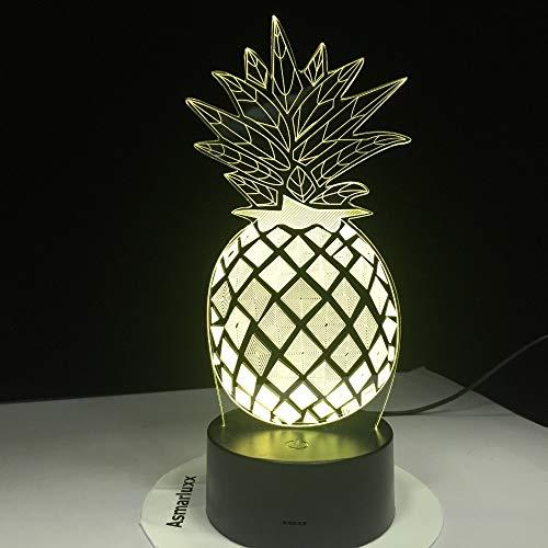 Ananas nachtlicht Farbe tischlampe Schlafzimmer Schiff optische Folien minimale Kosten hoher Standard qualität