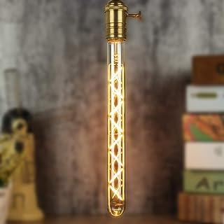 TIANFAN Edison Tube à essai long classique T28 300mm Design en zigzag Filament Led droit 6W Dimmable ampoule décorative sp...