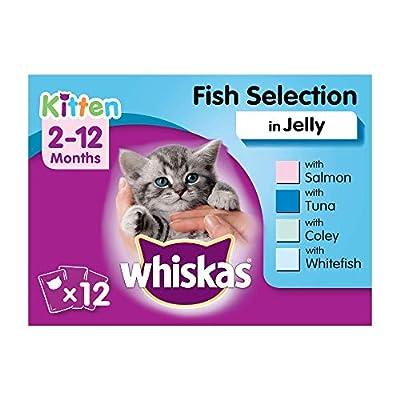 Whiskas Junior, Wet Food Pouches for Kittens (2-12 Months), 12 x 100 g