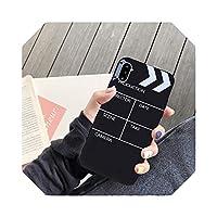 For iPhone用の新しいクールな映画パレットクラップパターン電話ケースコック8plus8 6 6S 7 7plus X XS Max11ProマットソフトキャンディーカバーFunda-1 black-For iphone 11 Pro