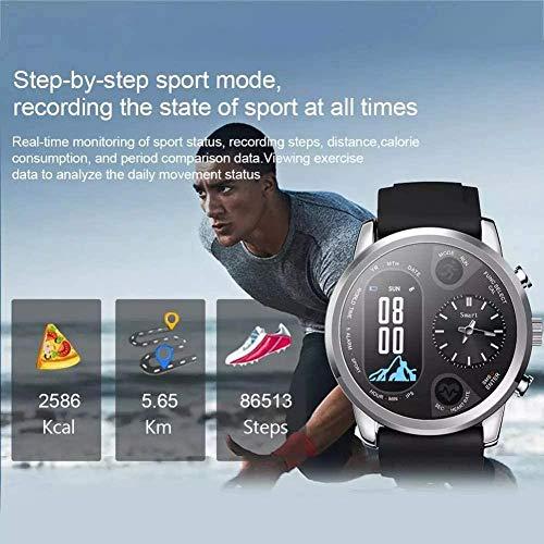 hwbq Reloj Inteligente de los Hombres Dual Time Impermeable IP67 Frecuencia Cardíaca Bluetooth Actividad Tracker Reloj Inteligente Deporte-B