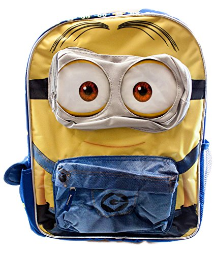 """Despicable Me Minions Backpack 3D Special Design 16"""" Backpack"""