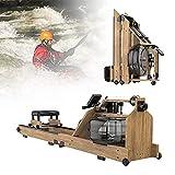 LITINGT Máquina de Remo para el hogar Máquina de Remo de Madera para Interiores con reposapiés Ajustable y Ajuste de Resistencia múltiple Adecuada para Ejercicio físico en casa