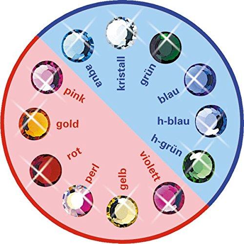 12 Stück Brilident Kristalle, Crystal, Ø ca. 2,0 mm, zum Aufkleben, Zahnschmuck Stein, Zahnschmucksteine Set,12 sortierte Farben, kristall klar + bunt, 12 Strasssteine