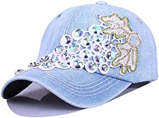 YOKST Baseball Cap Grape Pattern Embroidery Sports Cap Breathable Quick Drying Washed Size Adjustable Sun Hat Polo Style Classic Trucker Hat for Men Woman (Color : Light blue)