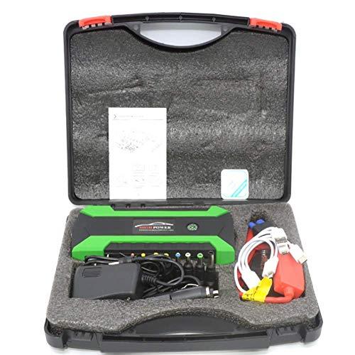 LALEO Arrancador de Coches (hasta 6, 0L Gasolina o 5, 0L Diesel), 1000A 20000mAh 12V IP68 Impermeable con Pantalla LCD Carga Rápida QC3.0 USB Linterna LED Powerbank Jump Starter,Verde